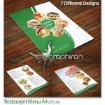 دانلود قالب وکتور لایه باز منو رستوران با ۷ طرح مختلف