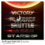 دانلود استایل های فضایی فتوشاپ Sci-fi Layer Styles Vol.2