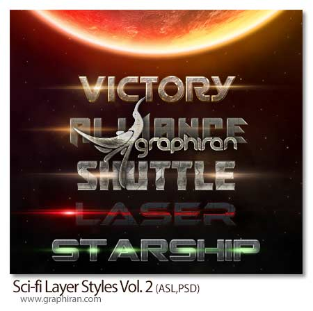 Sci-fi Layer Styles Vol. 2
