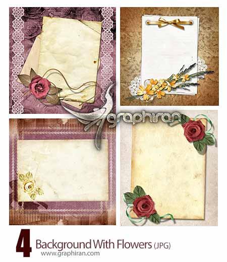 background دانلود تصاویر بک گراند عاشقانه با کادر گل و طراحی زیبا