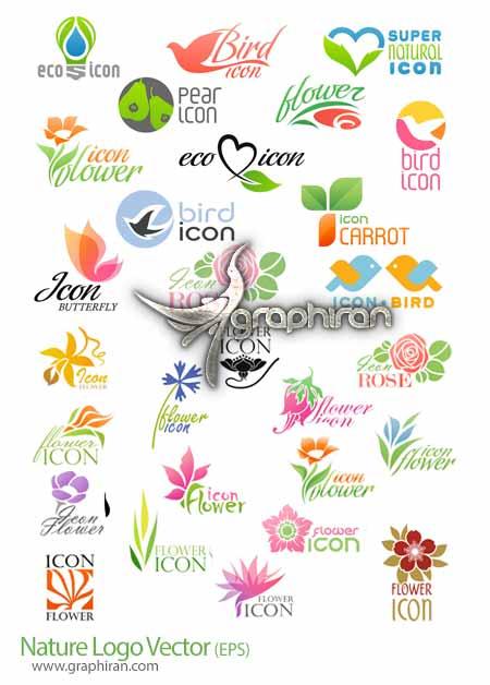طرح های لوگو با موضوع طبیعت