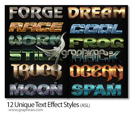 12 Unique Text Effect Styles