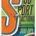 دانلود اکشن فتوشاپ افکت متن ورزشی ۳ بعدی ۳D Sport Text Action