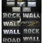 دانلود استایل فتوشاپ سنگ و بتون Concrete and Rock Styles