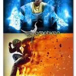 اکشن فتوشاپ ساخت افکت انتزاعی خارق العاده Elemental Photoshop Action