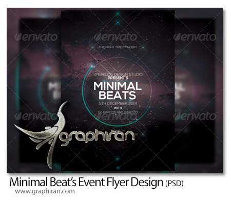 Minimal Beat Event Flyer Design پوستر گرافیکی PSD لایه باز با طراحی مینیمال و منحصر به فرد
