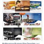 قالب PSD تراکت تبلیغاتی چند منظوره مناسب تبلیغات شهری و مجلات