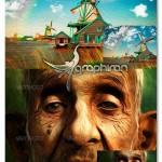 اکشن حرفه ای فتوشاپ ساخت افکت نقاشی روغن اکرلیک واقع گرایانه