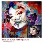 اکشن فتوشاپ افکت نقاشی ۲ بعدی با ژل Pure Art 2D Gel Painting