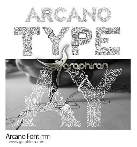 فونت انگلیسی Arcano