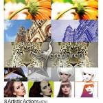 دانلود ۸ اکشن ساخت افکت های هنری عکس artistic photoshop actions