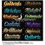 دانلود استایل های متن بی نظیر فتوشاپ Awesome Text Effect Styles
