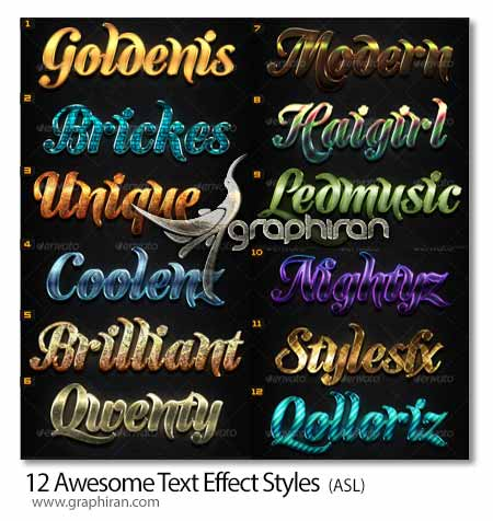 Awesome Text Effect Styles