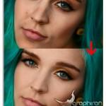 فیلم آموزش روتوش صورت و آرایش چشم در فتوشاپ با حفظ بافت پوست زبان فارسی