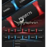 دانلود طرح آماده منو وبسایت گرافیکی دارای ۲ رنگ فرمت PSD
