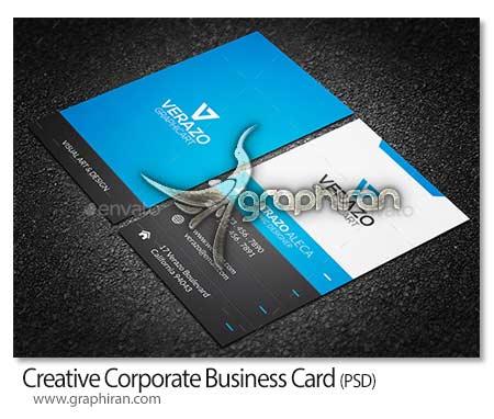 Creative Corporate Business Card دانلود قالب آماده کارت ویزیت تجاری فرمت PSD فتوشاپ   شماره 229