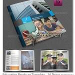 دانلود قالب لایه باز بروشور آموزشی و تحصیلی مدرن ۱۶ صفحه ای