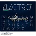 دانلود رایگان فونت جدید انگلیسی Electro با طراحی حرفه ای
