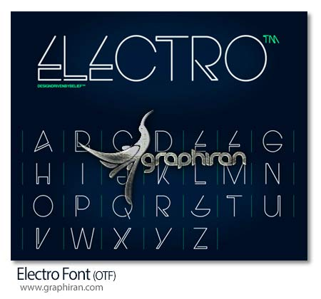 فونت انگلیسی Electro