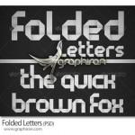 دانلود حروف انگلیسی تا خورده سبک اوریگامی Folded Letters