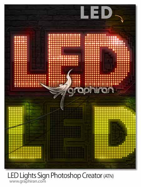 افکت چراغ های LED
