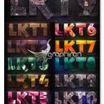 دانلود استایل های متن متنوع و خلاقانه فتوشاپ Lakose Text Styles