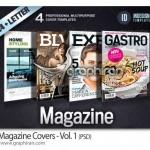دانلود ۴ طرح جلد مجله لایه باز با طراحی حرفه ای برای ایندیزاین