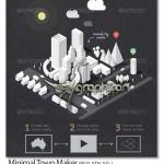 دانلود ابزار فتوشاپ ساخت نقشه مینیمال شهر Minimal Town Maker