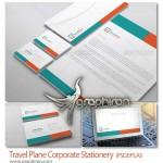 دانلود قالب لایه باز ست اداری شامل کارت ویزیت، سربرگ و پاکت نامه