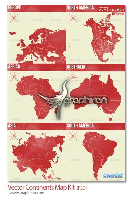 نقشه قاره ها