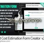 پلاگین وردپرس فرم برآورد هزینه خرید Cost Estimation Form Creator