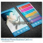 دانلود نمونه PSD کارت ویزیت ابتکاری شکل ویندوز فون – شماره ۲۲۶