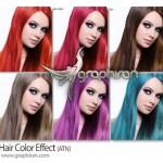 دانلود اکشن فتوشاپ تغییر رنگ مو Hair Color Effect