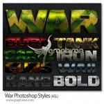 دانلود استایل های جنگی فتوشاپ با طراحی زیبا War Photoshop Styles