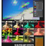 اکشن فتوشاپ ساخت افکت بی نظمی Glitch Art Photoshop Action