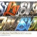 استایل های جدید ۳ بعدی فتوشاپ ۳D Collection Text Effects GO.1