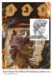 اکشن فتوشاپ ساخت افکت کاغذ سوخته و آتش گرفته Burnt Paper with Fire