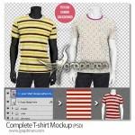 دانلود طرح ماک آپ تی شرت Complete T-shirt Mockup