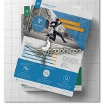 دانلود تراکت و بنر تبلیغاتی آماده Corporate Flyer PSD