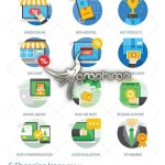 دانلود آیکون های فلت موضوع تجارت الکترونیک E-Shopping Icons