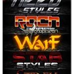 استایل های جذاب و جدید بازی های کامپیوتری فتوشاپ Game Styles V3