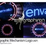 دانلود پروژه افتر افکت ارائه لوگو به شکل مکانیسم هولوگرافیک