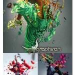 اکشن فتوشاپ افکت پاشیدن مایع در عکس Liquify Photoshop Action