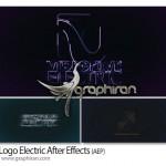 پروژه افترافکت تشکیل لوگو و متن با افکت الکتریسیته Logo Electric