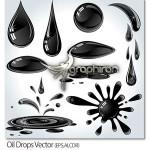 دانلود تصاویر وکتور قطرات نفت Oil Drops Vector