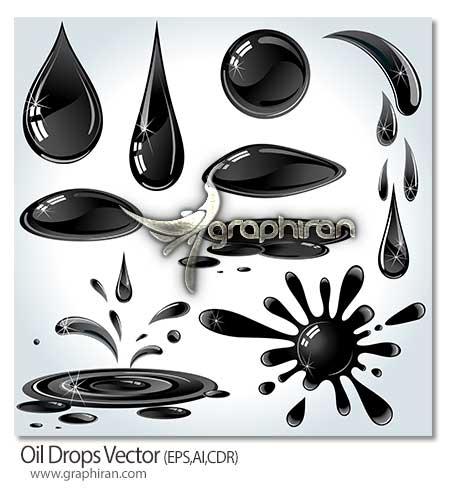Oil Drops دانلود تصاویر وکتور قطرات نفت Oil Drops Vector