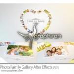 دانلود رایگان پروژه افتر افکت گالری عکس خانوادگی حرفه ای