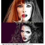 دانلود اکشن جدید فتوشاپ ساخت افکت عکس سیاه و سفید هنرمندانه