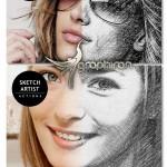 اکشن فتوشاپ تبدیل عکس عادی به طراحی با مداد Photo2 Sketch Action v1.1