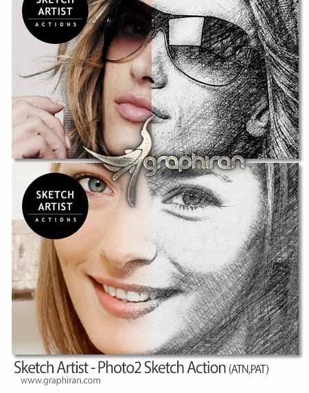 تبدیل عکس های عادی به طراحی با مداد